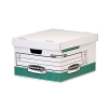 Bankers Box by Fellowes Storage Box Foolscap White Green Ref 00791 [Pack 10]