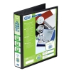 Elba Panorama Presentation Ring Binder PVC 4 D-Ring 50mm Capacity A4 Black Ref 400008430 [Pack 4]
