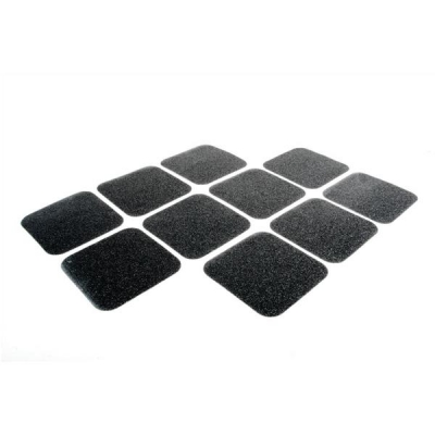 COBA Grip Foot Tape Tile Anti-slip Grit Surface Hard-wearing W140xD140mm Black Ref GF010005 [Pack 10]