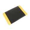 COBA Safety Deckplate Mat PVC Diamond Tread Foam-backed Yellow-bordered W600xD900mm Black Ref SD010701