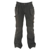 Dewalt Low Rise Trousers Metal-zip Holster-pockets Waist 32in Leg 31in Black Ref 32W/31L
