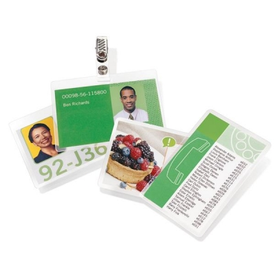 GBC Laminating Pouches 250 Micron for Badge Card [67x99mm] Ref 3743177 [Pack 100]