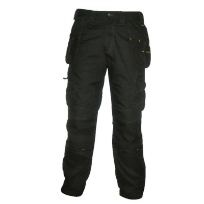 Dewalt Low Rise Trousers Metal-zip Holster-pockets Waist 40in Leg 31in Black Ref 40W/31L