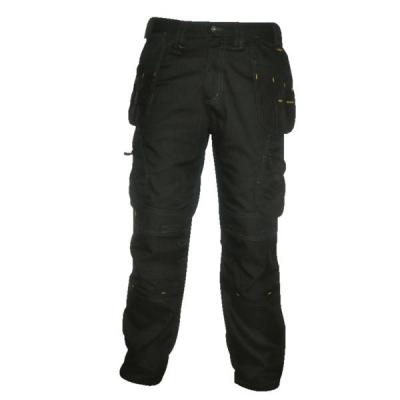 Dewalt Low Rise Trousers Metal-zip Holster-pockets Waist 40in Leg 33in Black Ref 40W/33L