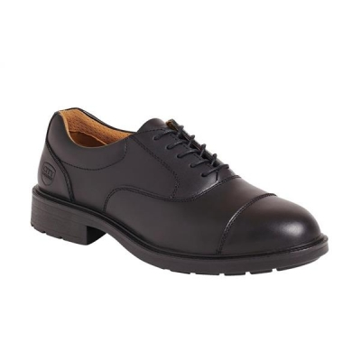 Sterling Steel Oxford Shoes Steel-toe Shock-absorbent Chemical-resist Leather Size 12 Black Ref SS50112