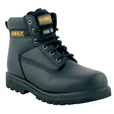 Dewalt Safety Boots 6 inch Steel-midsole Chemical-resistant Size 7 Leather Black Ref Maxi 7