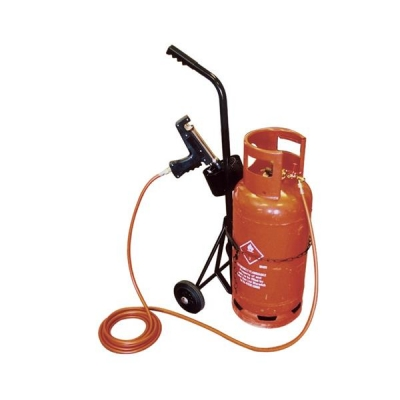 Adpac Trolley Metal Two Wheels Capacity 18kg Load for Gas Cylinders Ref PCT