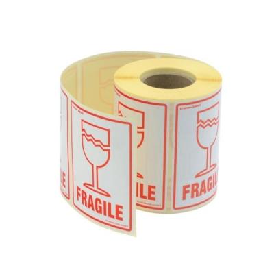 Parcel Labels Fragile 108x79mm on Roll Diameter 210mm [500 Labels]