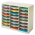 Literature Sorter Melamine-laminated Shell 24 Compartments W737xD302xH594mm