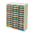 Literature Sorter Melamine-laminated Shell 36 Compartments W737xD302xH881mm