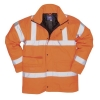 Portwest High Visibility Railtrack Jacket Polyester Resistant-finish Medium Orange Ref RT60MED