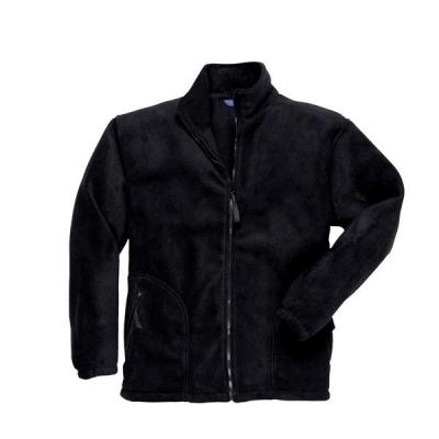 Portwest Heavy Fleece Jacket Polyester Zipped-pockets Medium Black Ref F400BLKMED