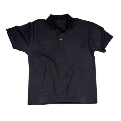 Portwest Polo Shirt Polyester & Cotton Rib-knitted Collar Black Medium Ref B210BLKMED