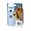 Epson T0711 Inkjet Cartridge DURABrite Cheetah Page Life 230-260pp Black Ref C13T07114011
