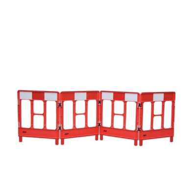 Workgate 4 Gate Barrier Lightweight Linking-clip Reflective Panel Red Ref KBC023-000-600
