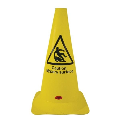 Safety Cone PVC Caution Slippery Surface H500mm