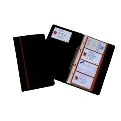 business card book professional ring binder with a z index capacity 128 cards