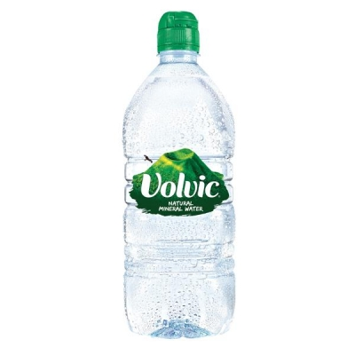 Volvic Go Natural Mineral Water Bottle Plastic with Sports Cap 1 Litre Ref EX-2-100 02205 [Pack 12]