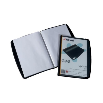 Rexel Display Book Professional 20 Pockets Front Cover Pocket and Card Pocket A4 Ref 2101130