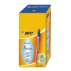 Bic Cristal Ball Pen Clear Barrel 1.0mm Tip 0.4mm Line Blue Ref 8373602 [Pack 50]