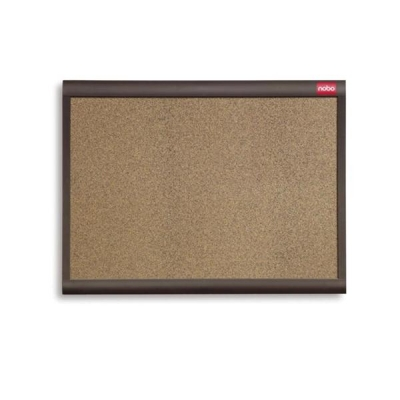 Nobo Elipse Personal Designer Noticeboard Cork with Plastic Frame W900xH600mm Ref QBDC9055