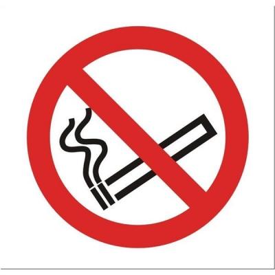 Stewart Superior Sign No Smoking Vehicle100x100mm Self-adhesive Vinyl Clear Ref SB012SAV