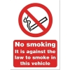 Stewart Superior Sign No Smoking Vehicle A5 Self-adhesive Vinyl Ref SB014SAV