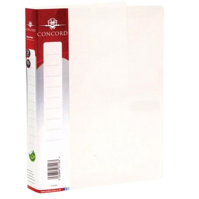 Concord Natural Ring BInder Polypropylene 2 O-Ring 15mm Size A5 Clear Ref 7116-PFL [Pack 10]