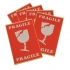 Labels International Handling W74xH105mm Red/White Printed Fragile [Pack 5]