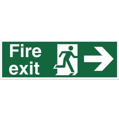 Stewart Superior Safe Condition & Fire Equipment Sign Fire Exit Right Arrow 200x600mm Ref NS002