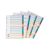 Concord Subject Dividers Polypropylene Europunched 6-Part A4 Assorted Ref 65889