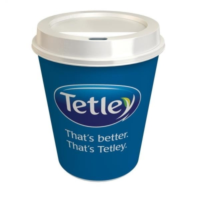 Tetley On The Go Tea Bags with Double Walled Cups and Non Spill Sip Lids Ref 1309C [Pack 300]