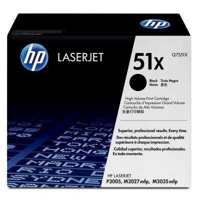 Hewlett Packard [HP] No. 51X Laser Toner Cartridge Page Life 13000pp Black Ref Q7551X