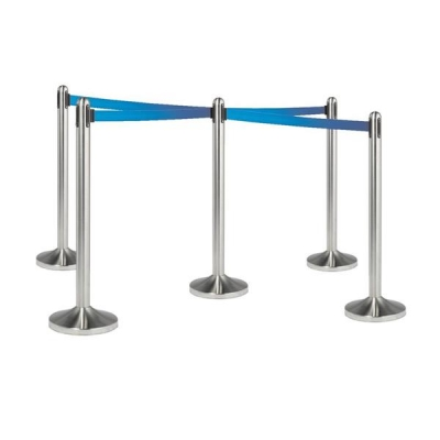 Flexibarrier Stainless Steel with Retractable Blue Strapping Tape length 2100mm