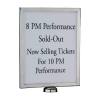 Sign Holder Stainless Steel A4 For Flexibarrier Barrier Post W310xH220xD20