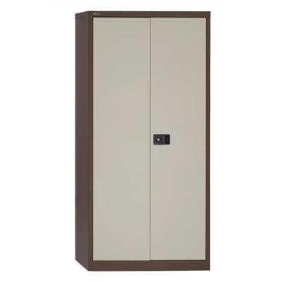 Trexus Storage Cupboard Steel 2-Door W914xD400xH1806mm Brown and Cream