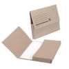 5 Star Document Wallet Half Flap 285gsm Capacity 32mm Foolscap Buff [Pack 50]