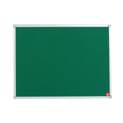5 Star Noticeboard with Fixings and Aluminium Trim W900xH600mm Green