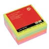 5 Star Re-Move Notes Cube Pad of 400 Sheets 76x76mm Neon Rainbow