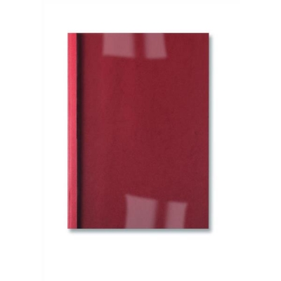 GBC Thermal Binding Covers 6mm Front PVC Clear Back Leathergrain A4 Red Ref IB451232 [Pack 100]
