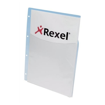 Rexel Nyrex Pocket Punched 4-Hole Half-size Extra Capacity 250 Sheets A4 Ref 13680 [Pack 5]