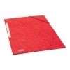 Elba Eurofolio Folder Elasticated 3-Flap 450gsm A4 Red Ref 100200990 [Pack 10]