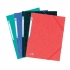 Elba Eurofolio Folder Elasticated 3-Flap 450gsm A4 Red Ref 100200990 [Pack 10]