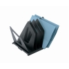 Filesorter Document File Sorter Metal with 7 Pivoting Dividers Black