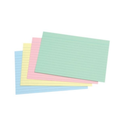5 Star Record Card Smooth 152x102mm Assorted [Pack 100]