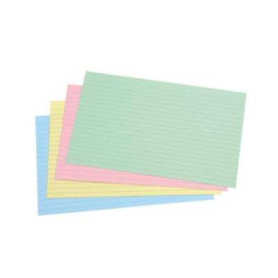 5 Star Record Card Smooth 203x127mm Assorted [Pack 100]