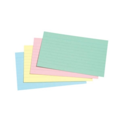 5 Star Record Card Smooth 127x76mm Assorted [Pack 100]