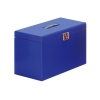 Pierre Henry Metal File Box with 5 Suspension Files Tabs and Inserts A4 Blue Ref 40125