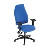 Influx Posture High Back Asynchronous Armchair Seat W500xD500xH420-530mm Blue