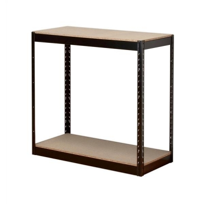 Influx Storage Shelving Unit Heavy-duty Boltless 2 Shelves Capacity 2x 150kg W950xD450xH940mm Black